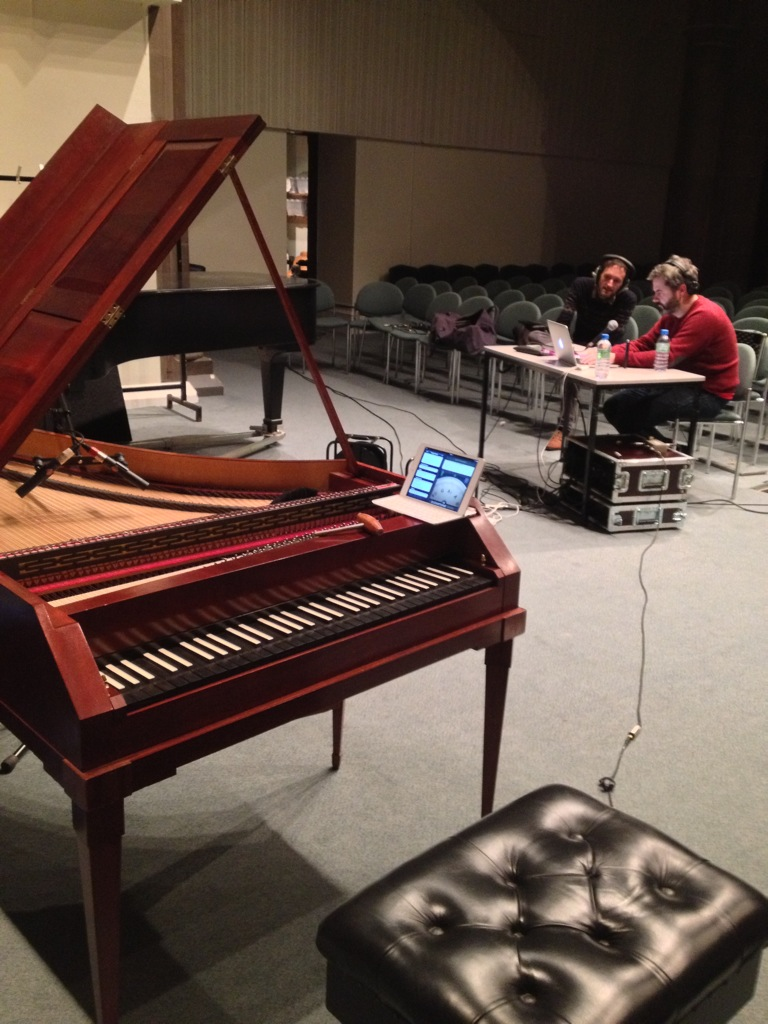 the view of Alasdair and Neil McDermott from the McNulty fortepiano