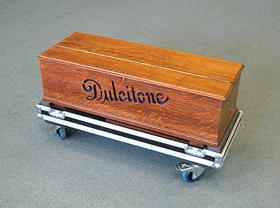 dulcitone on its flight case