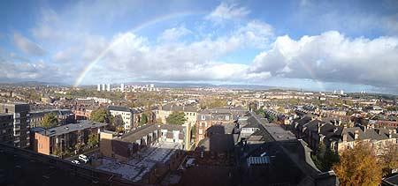 rainbow over Glasgow