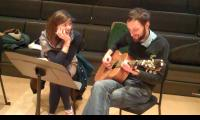 <strong>Olivia Chaney and Alasdair Roberts</strong><br>Alasdair keeps quiet about his mysterious guitar tunings